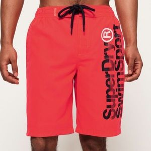 EUC Superdry Boardshorts Coastal Pink Swim Shorts